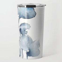 Blue grey florals Travel Mug