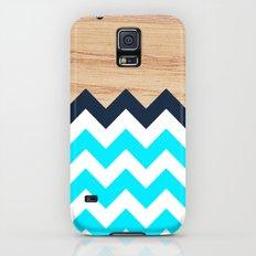 Chevron & Wood Galaxy S5 Slim Case