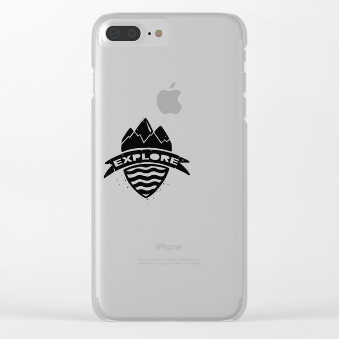 Explore Clear iPhone Case