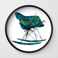 eames Wall Clocks featuring Eames Rocker by MoMo