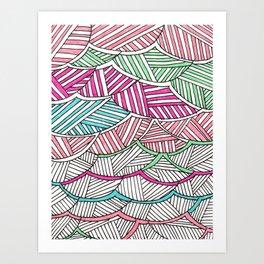 fibers (2) Art Print