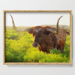 Texas Longhorn 2 Serving Tray