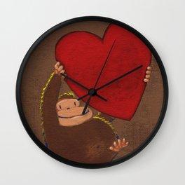 Ape Lifts Valentine Wall Clock