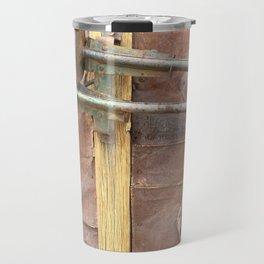 Rusty metal horns Travel Mug