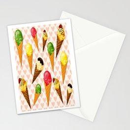 Ice cream hearts-Rosa Stationery Cards