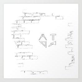 funny bricklayer profession craftsman guild sign trowel statics Art Print