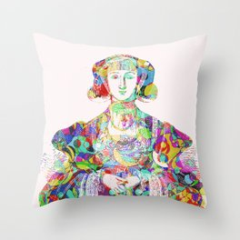 Anne of Cleves Throw Pillow