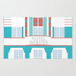 Miami Landmarks - Hotel Webster Rug
