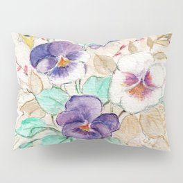 Pansies Bouquet Pillow Sham