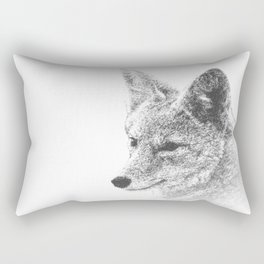 Coyote Profile Drawing Rectangular Pillow
