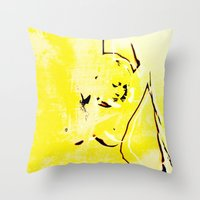 nudes Throw Pillows featuring Nudes Art 2011 by Falko Follert Art-FF77
