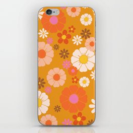 Groovy Mod 60's Flower Power iPhone Skin