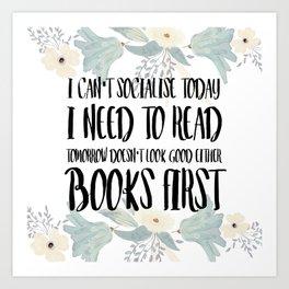 Books First Art Print