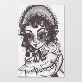 Scarecrow maid Canvas Print