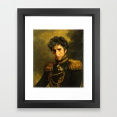 Bob Dylan - replaceface Framed Art Print
