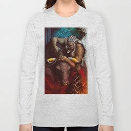 Sten Arishok Taurus Zodiac Tarot card Long Sleeve T-shirt