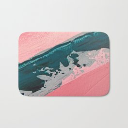 ABSTRACT STREAM | Acrylic abstract art by Natalie Burnett Art Bath Mat