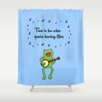 kermit Shower Curtains featuring Kermit having fun by BlackBlizzard