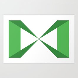 Simple Construction Green Art Print