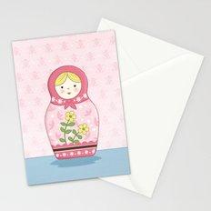 Matryoshka Doll (pink) Stationery Cards