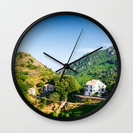 House in Corsican mountains Wall Clock