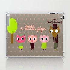 3 Little pigs Laptop & iPad Skin
