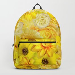 yellow rose bouquet with gerbera daisy flowers Backpack