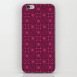 Pink Yarrow Geometric Floral Abstract iPhone Skin