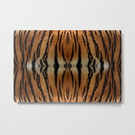 Tiger Stripes Pattern Metal Print