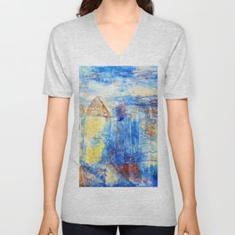 Paul Klee View of a Square Unisex V-Neck