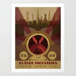 Future Industries Advertisement Art Print