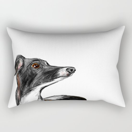 Italian Greyhound Rectangular Pillow