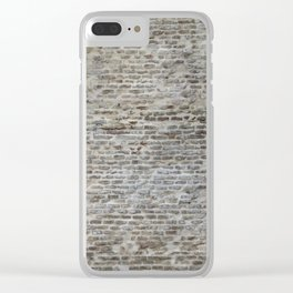 brick wall pattern and texture Clear iPhone Case