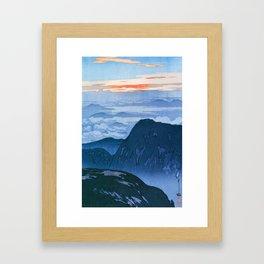 12,000pixel-500dpi - Yoshida Hiroshi - Japan Alps 12, Eboshidake Morning Sun - Digital Remaster Framed Art Print