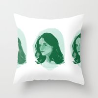 teen wolf Throw Pillows featuring Teen Wolf - Allison by days & hours