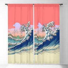 Fuji at Sea of Pugs Blackout Curtain
