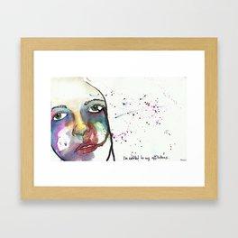 I'm entitled to my afflictions Framed Art Print
