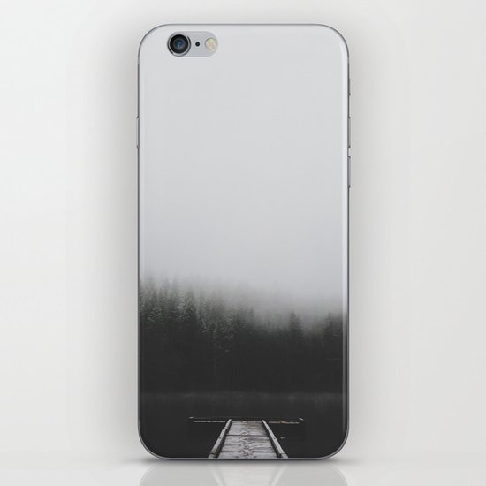 Snow Covered Dock iPhone & iPod Skin