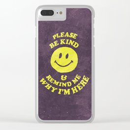 Remind Me Clear iPhone Case