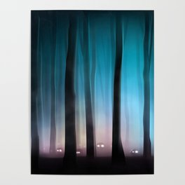 Spooky Forest Monsters Poster