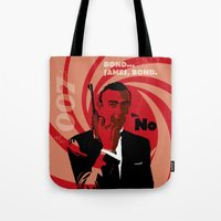 bond Tote Bags featuring Bond by Nile