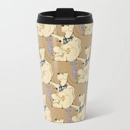Mmmm Cookies, a dog tessellation Travel Mug