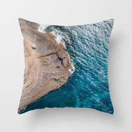 Clear Coastal Waters of the South Coast Throw Pillow