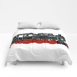 Locomotive Train Railroad Railway Steam Vintage Comforters