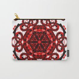 Red Abstract Mandala Star Carry-All Pouch