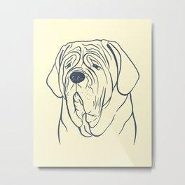 Neapolitan Mastiff (Beige and Blue-Gray) Metal Print
