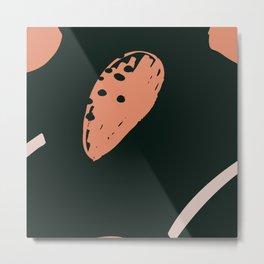 Abstract bold almond pattern Metal Print