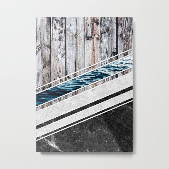 Striped Materials of Nature I Metal Print