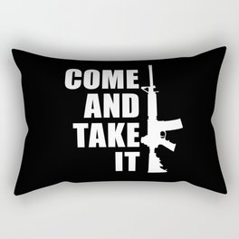 Come and Take it with AR-15 inverse Rectangular Pillow