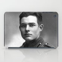 hemingway iPad Cases featuring Ernest Hemingway in Uniform, 1918 by Limitless Design